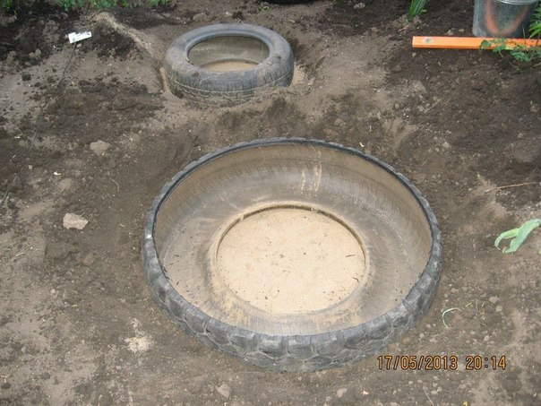 Cr er un bassin artificiel avec de vieux pneus aquaponie for Installing a small pond