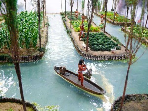 chinampas aztèques aquaponie