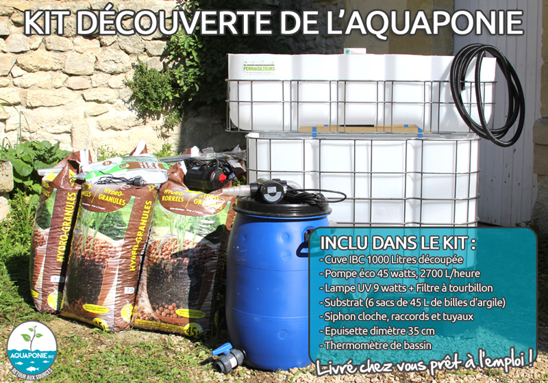 Achat kit aquaponique IBC livré en France