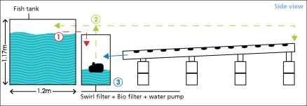 Guide pas à pas dans la construction d'une unite aquaponique classique NFT et DWC (61)